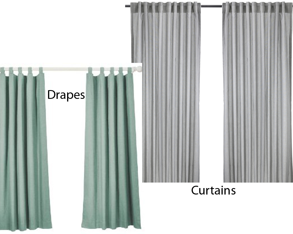 drapes vs curtains