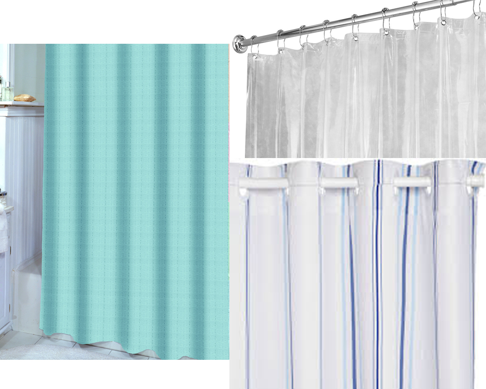Bed bath and beyond shower curtain liners long shower for Bathroom liner