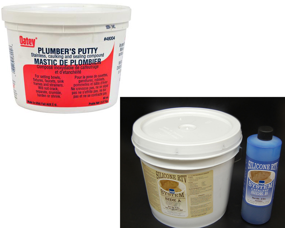 Leak Sealing Putty : Plumbers putty vs silicone homeverity