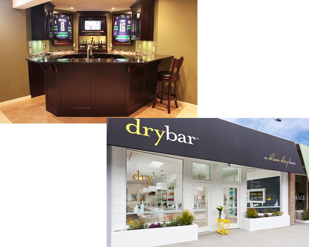 wet bar vs dry bar