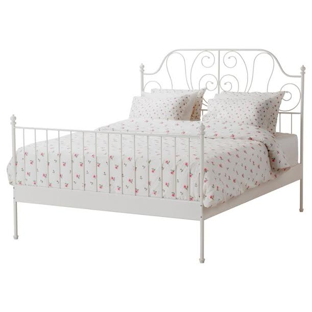 Leirvik Bed Frame Review White Queen Size Iron Metal
