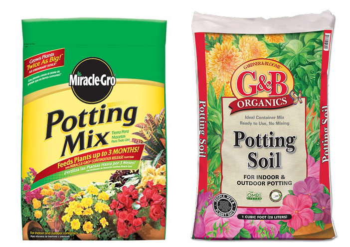 Potting soil vs potting mix for Topsoil vs potting soil